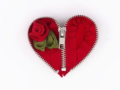 Sweetheart Zip Brooch