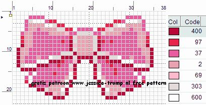 Free Bow Cross Stitch Pattern