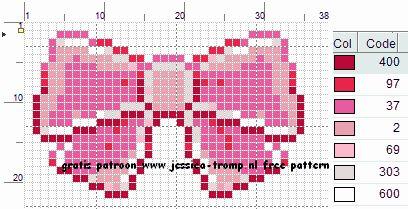 Free Bow Cross Stitch Pattern