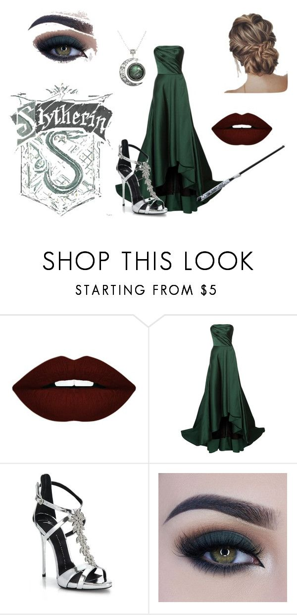 Slytherin by isaono on Polyvore featuring moda, Jason Wu, Giuseppe Zanotti, Too Faced Cosmetics and Forever 21