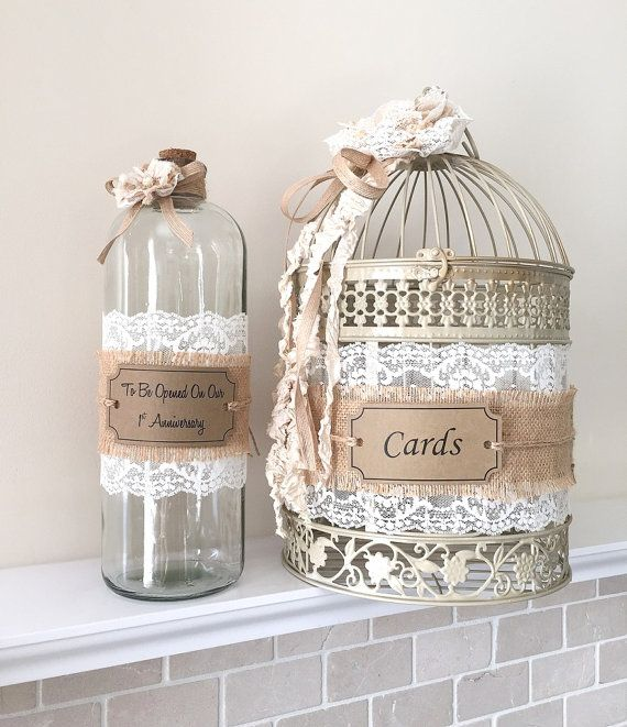 Shabby Chic message in a bottle guestbook for guests to leave lovely messages/wishes for the bride and groom on their special day! Wishes can be