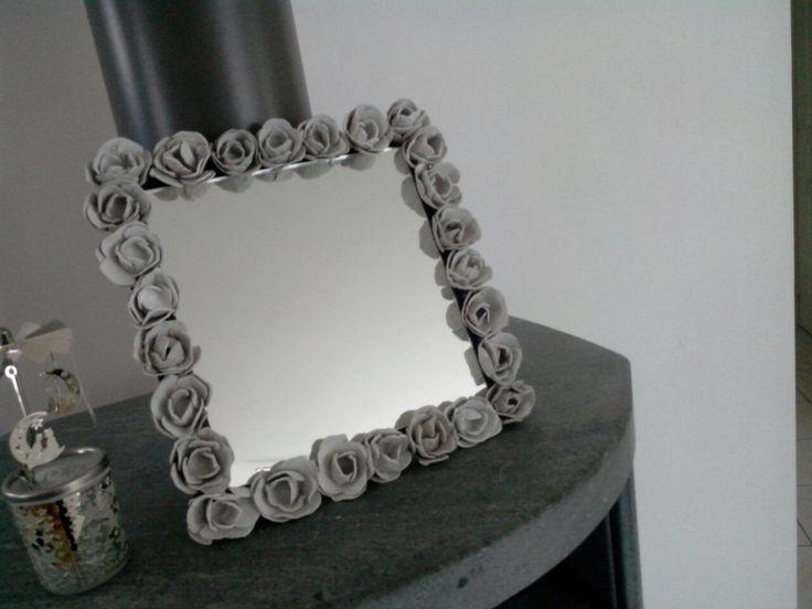 Cadre miroir roses