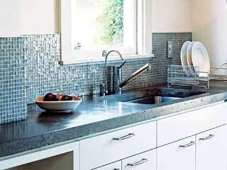 Love this concrete counter top and the back splash too!