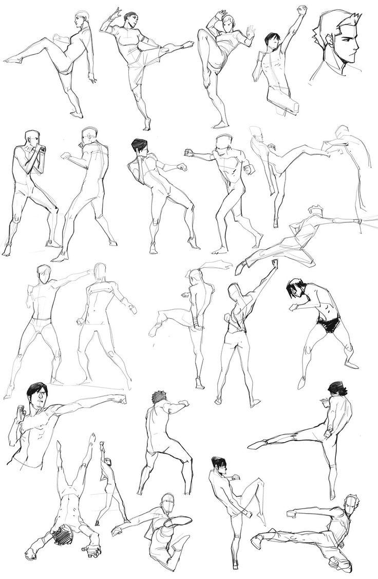 Poses artes marciales