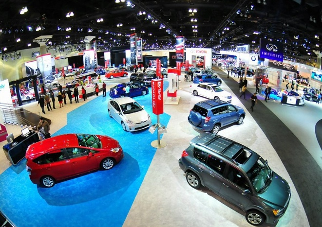 Toyota exhibit at the 2011 LA Auto Show