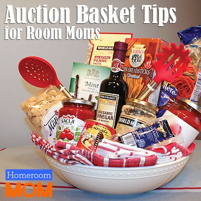 Room parents are often asked to organize a class basket to be donated for the school auction. If you're on basket duty, we have some fun basket ideas and tips to help!