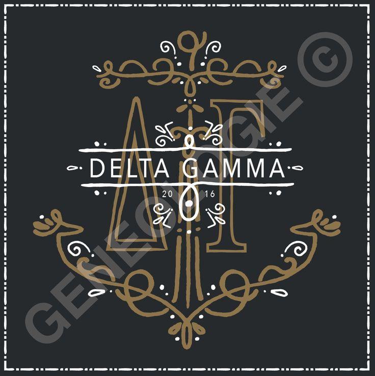 Geneologie | Greek Tee Shirts | Greek Tanks | Custom Apparel Design | Custom Greek Apparel | Sorority Tee Shirts | Sorority Tanks | Sorority Shirt Designs  | Sorority Shirt Ideas | Greek Life | Hand Drawn | Sorority | Sisterhood | DG | Delta Gamma | Anchor | Gold