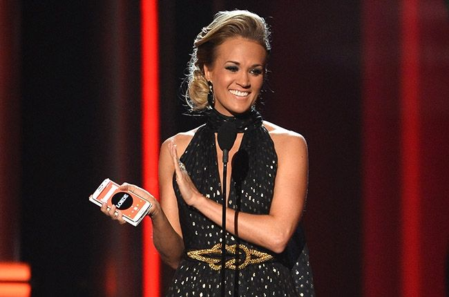 2014 Billboard Music Awards - Carrie Underwood was crowned the winner of the fan-voted Milestone Award, presented by Chevrolet and presented by Kelly Rowland and a lucky fan who won the opportunity to co-present.  Carrie was paired with two other finalists, OneRepublic and Ellie Goulding.  The competition began with six nominees: Imagine Dragons, John Legend, Luke Bryan, Underwood, OneRepublic and Ellie Goulding.