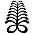 "The AYA or fern is an African Adinkra symbol of endurance and resourcefulness. ""An individual who wears this symbol suggests that he has endured many adversities and outlasted much difficulty."""
