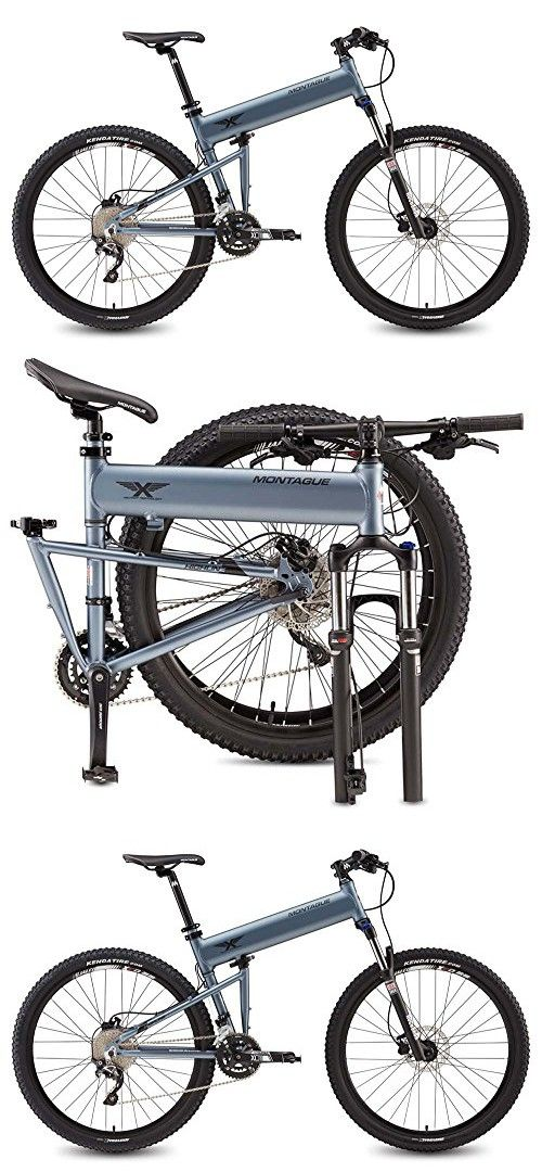 "Montague Paratrooper Highline 18"" Matte Grey 20 Speed Folding Mountain Bike"