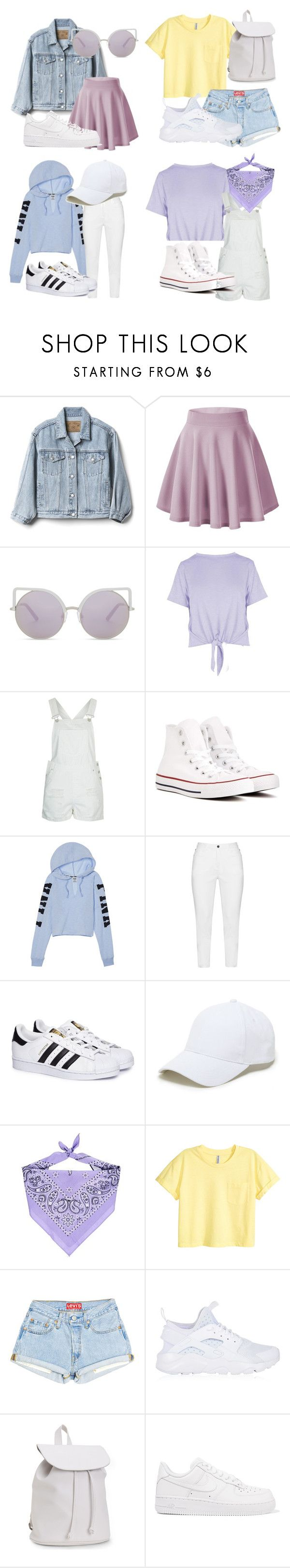 """""""girl group 2 (Gfriend inspired)"""" by raloisio on Polyvore featuring Gap, Matthew Williamson, Boohoo, Topshop, Converse, Zhenzi, adidas, Sole Society, Forever 21 and NIKE"""