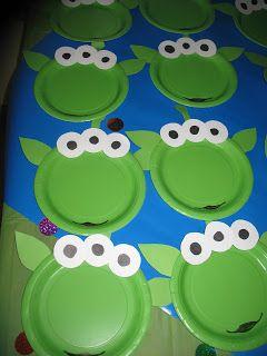 Alien Birthday plates