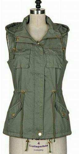 SALE!! Hooded Cargo Vest