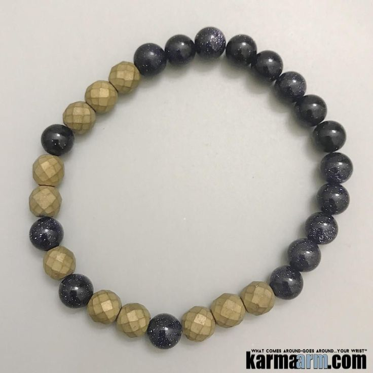 Goldstone, like diamond, is a good deflector of unwanted energies, and is highly regarded in the spirit realm as a protection mineral……..  Hematite is good for working with the Root Chakra, helping to transform negative energies into a more positive vibration. Those in relationships can benefit from the cooperation vibe coming from Hematite… Yoga Chakra Bracelet. Mens Energy Healing Karma Mala Stacks. Organic Reiki Jewelry.  . Mens Meditation Mala……