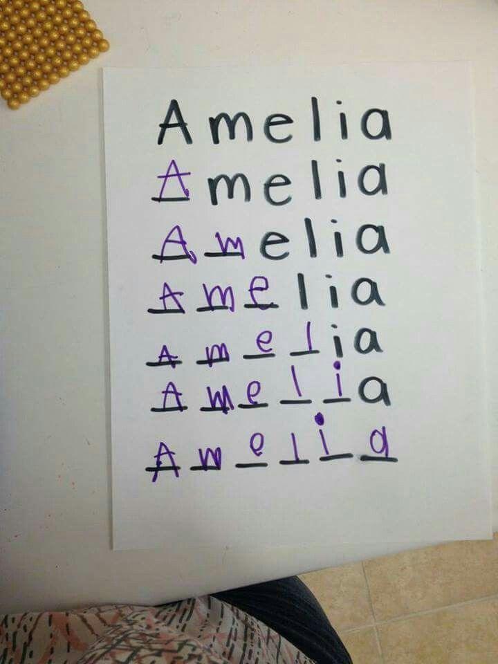 Name spelling activity idea for Preschool.