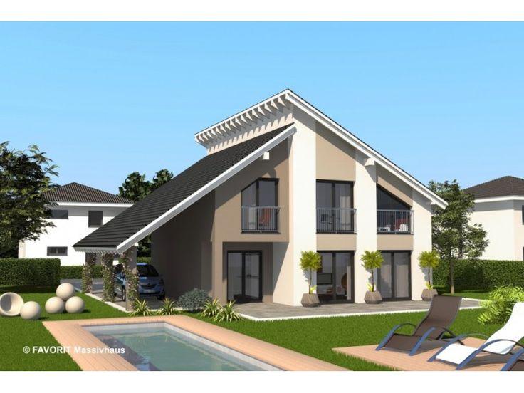 Creativ Sun 145 - #Einfamilienhaus von Bau Braune Inh. Sven Lehner   HausXXL #Massivhaus #Energiesparhaus #Nullenergiehaus #modern #Pultdach