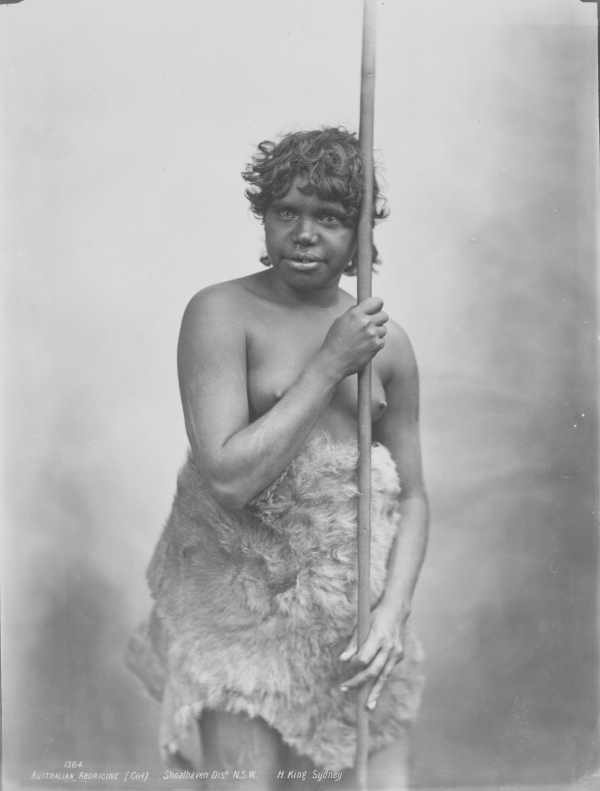 First Australian - Australian Aborigine (Girl) Shoalhaven Dist. N.S.W.   Date(s) of creation: [1933] Photograph printed in 1933 from original negatives taken by Henry King in the 1890s.