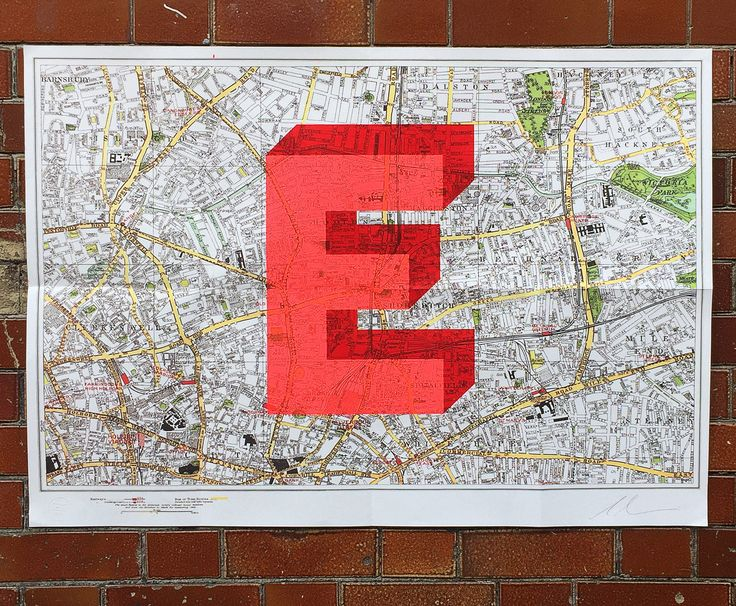 'E' the limited edition artwork by artist Dave Buonaguidi. Available to buy online at Nelly Duff.