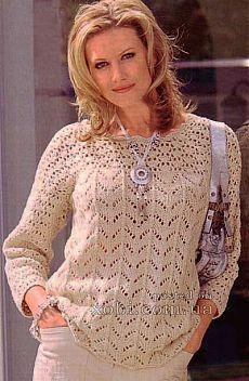 Женские пуловеры и свитера вязаные крючком и спицами » Страница 26