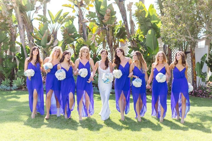 bright cobalt blue bridesmaid dresses