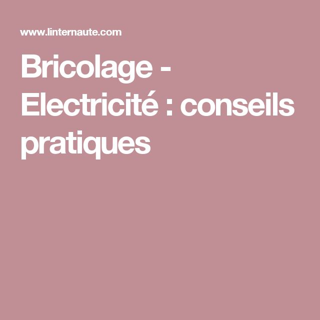 95 best électricité images on Pinterest Electrical wiring