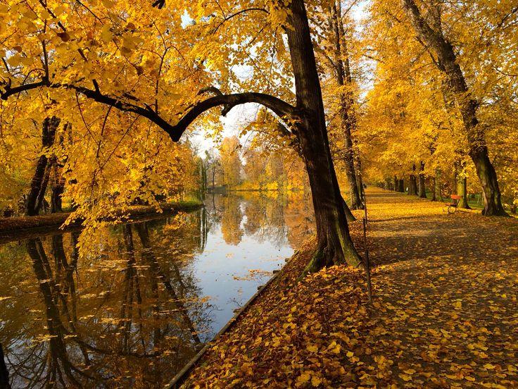 Autumn in Kromeriz gardens.