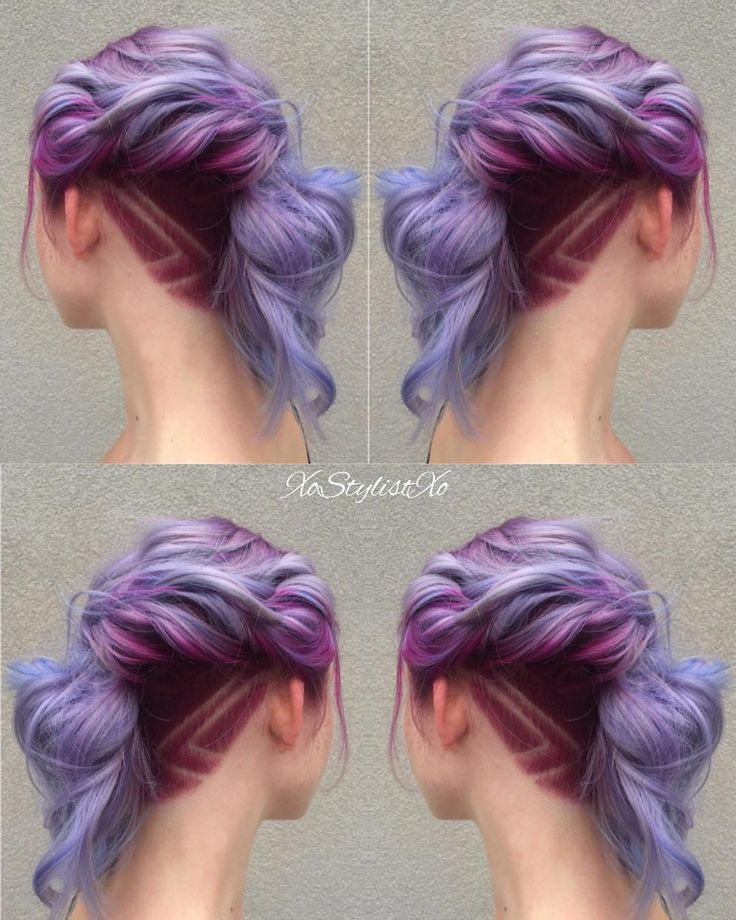 """""""Love this beautiful creative color! I took it up a notch by adding an undercut and design. Want to see more looks like this? What inspires your…"""""""