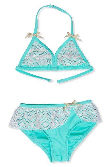 Hula Star Crochet Two-Piece Swimsuit (Toddler Girls & Little Girls)