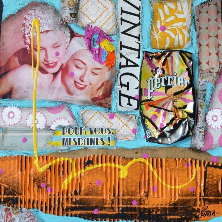 Pour une ambiance rétro, venez découvrir nos produits vintage ! Tout pour décorer votre maison comme cette œuvre unique de Sophie Costa. Inspirée de la culture américaine, elle représente le monde qui l'entoure à base de collages très pop art ! Vous en pensez quoi ? #vintage #popart #œuvre #déco #homedeco #USA #unique #collages #ambiance #rétro  #exclusivitéweb #eclat-deverre Retrouvez tous nos produits vintage sur le lien suivant => https://shop.eclatdeverre.com/fr/vintage/6749-vintage.html