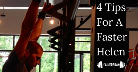 This article contains 4 super simple tips guaranteed to shave seconds off your CrossFit Helen WOD time!