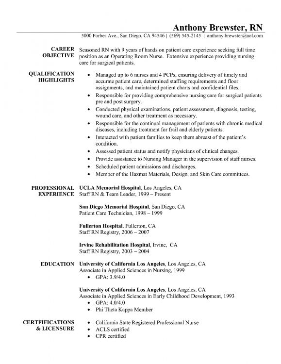 new grad resume sample registered nurse examples template