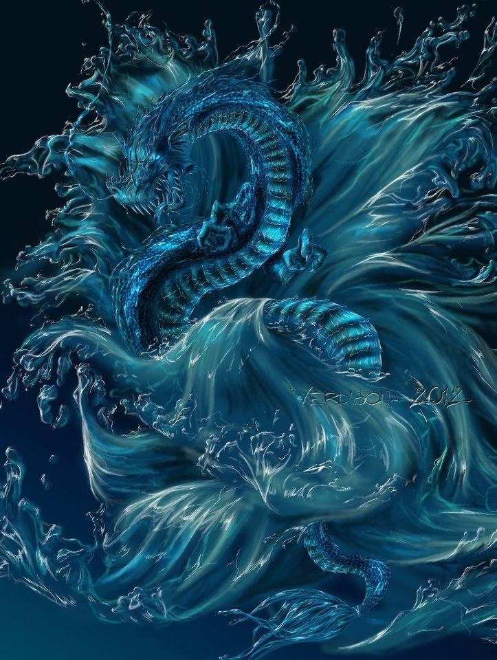 Водный драконы картинки