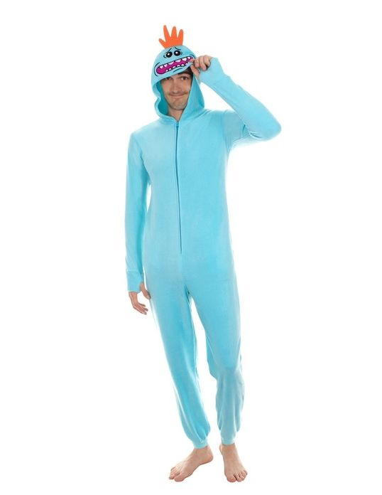 Mr Meeseeks Costume | Mr. Meeseeks Onesie with Butt Flap