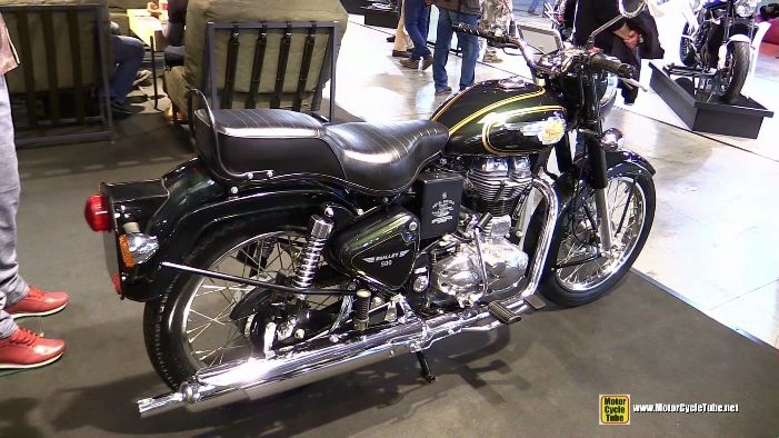 2015 Royal Enfield Bullet 500 Green Forst atv2014 EICMA Milan Motorcycle Exhibition