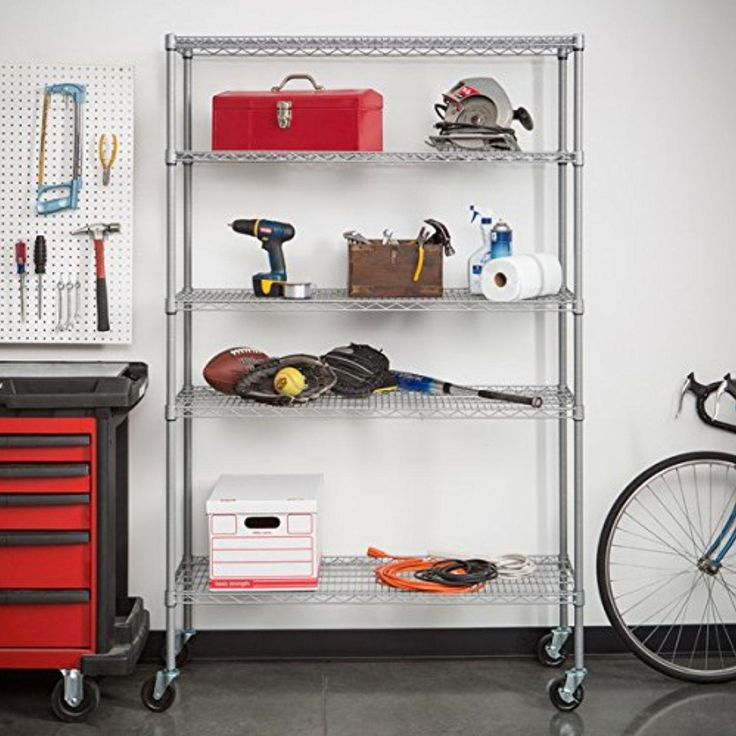Trinity NSF Adjustable 5-Tier Outdoor Wire Shelving Rack - Brought to you by Avarsha.com