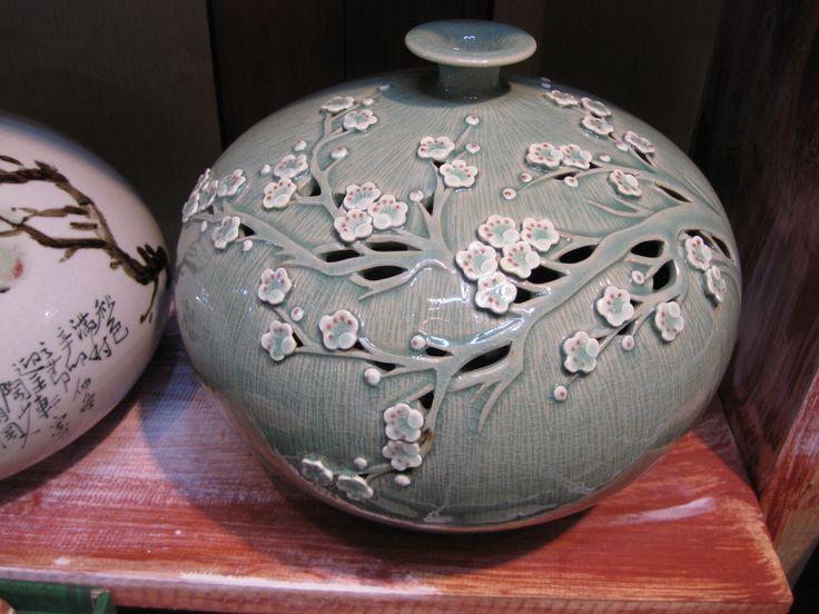 Beautiful celadon pottery. Spotted in Korea