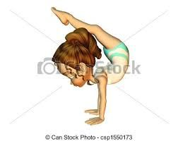 Image result for simple cartoon drawings of gymnasts