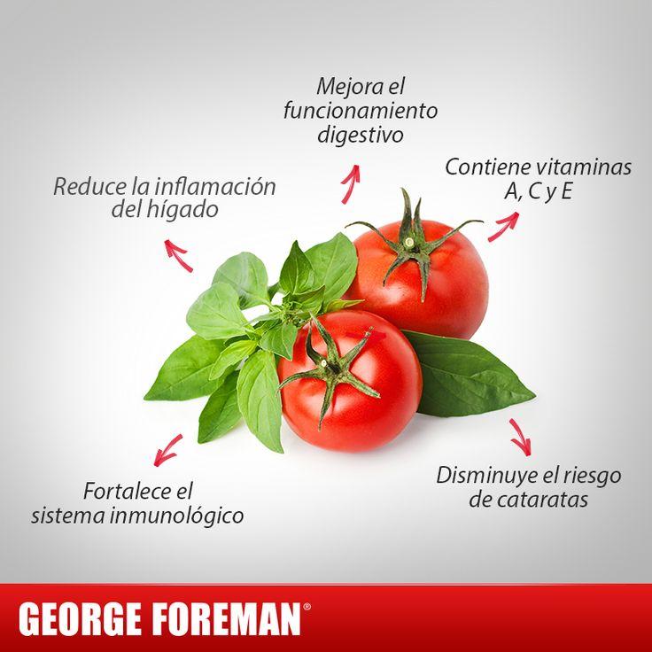El jitomate tiene propiedades únicas que te ayudarán a tener una mejor salud. ¡Consúmelo! #beneficios #alimentos #hábitosmx #georgeforemanmx #jitomate #verdura