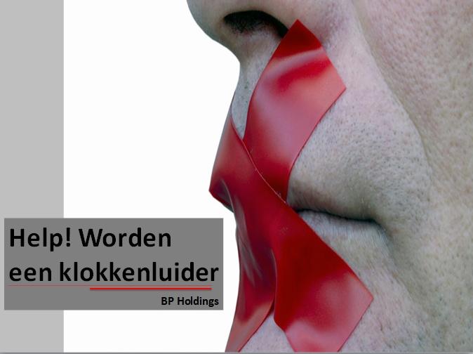http://issuu.com/yshybrown/docs/bp_holdings_-_help__worden_een_klokkenluider_-_sli    Een klokkenluider is een persoon die de openbare of autoriteiten informeert over vermeende wangedrag plaatsvindt in een overheidsinstantie of particuliere onderneming of organisatie. De vermeende oneerlijke of onwettige activiteit komt in vele vormen: bijvoorbeeld een schending van een wet, regel, regelgeving en/of een directe bedreiging voor algemeen belang, zoals fraude,
