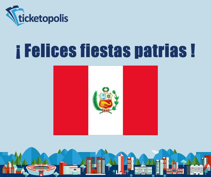 Hoy nosotros también izamos la bandera de Perú, ¡felices fiestas patrias!