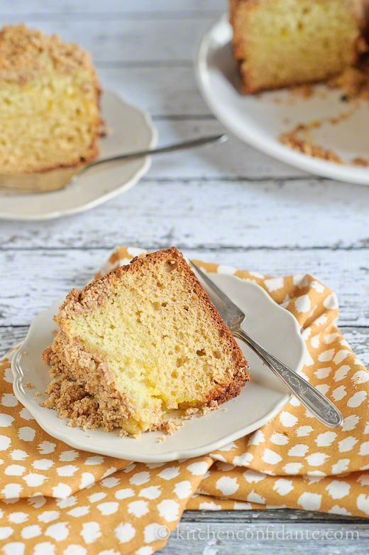 Meyer Lemon Coffee Cake with Almond Streusel.