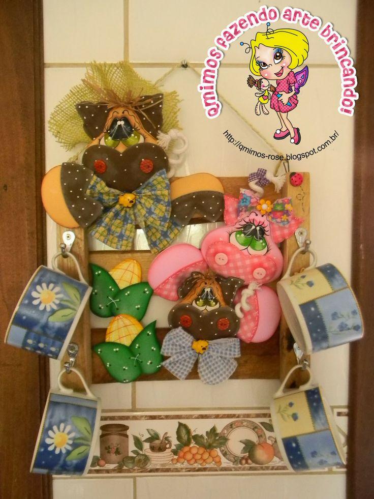 Qmimos - Hacer ¡broma de arte: de Taza / claves de puerta - CON Papelera de reciclaje