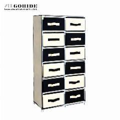 [ $26 OFF ] Gohide Fashion Large Storage Cabinet Multi-Layer Grid Cabinet Storage Cabinet Sng612110 Non-Woven Fabric Multi-Functional Closet