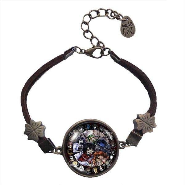 Creepypasta CREEPY PASTA TICCI TOBY Bracelet Chain Eyeless jack Gift... ($20) ❤ liked on Polyvore featuring jewelry, bracelets, chains jewelry, charm bracelet, chain jewellery and chain charm bracelet