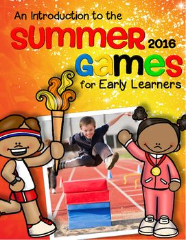 Summer Olympics 2016 pack - This is a comprehensive set of activities with an Olympic Games theme - make hands-on, interactive centers and learning games for your preschool and pre-K and early kindergarten classroom. Engaging graphics, most activities are developmentally appropriate for ages 3 - 5. 93 pages.