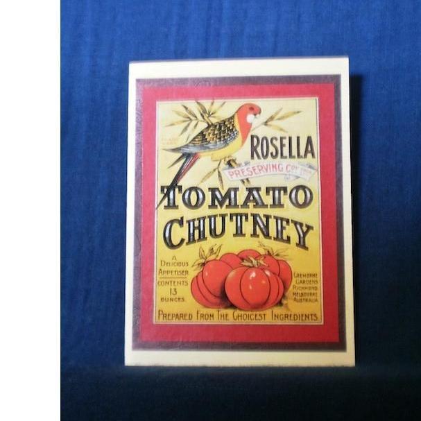 $4.00 Rosella Chutney Vintage Advert Blank Card by PaperWorks on Handmade Australia