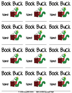 AR reading incentive- fill up row on sticker chart and earn a Book Buck...  *Testing as reading incentive at home as he does well in school.  May turn it to Lego bucks at home:  read four books and get a new set.