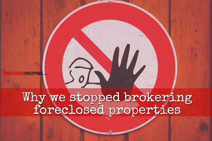 With each email alert I send to subscribers, it now includes a reminder that I have stopped brokering foreclosed properties. It's a personal decision that