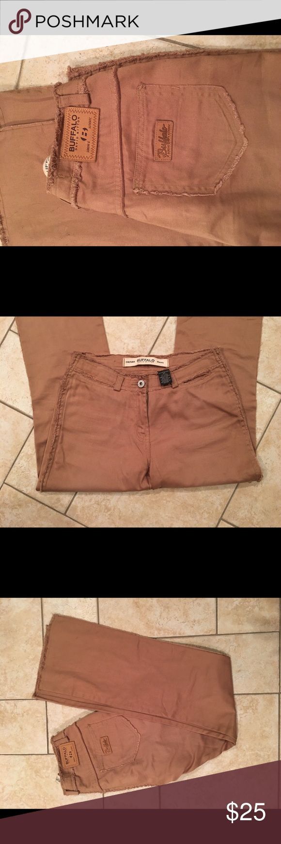 Buffalo size 27 boot cut tan jeans Buffalo size 27 boot cut tan jeans. Extremely soft material. Great for work or play. New never worn retail $189 Buffalo Jeans Boot Cut