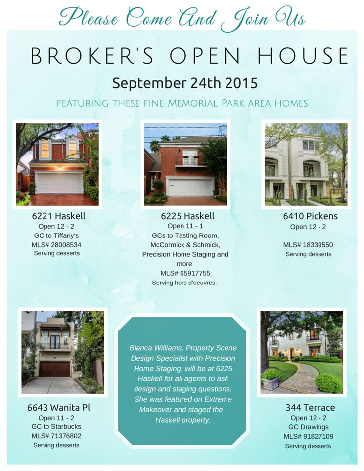 The 13 Best Open Houses Images On Pinterest Open House Flyer